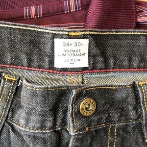 J. Crew Jeans - J. Crew Black Vintage Slim Straight Jeans 34/30
